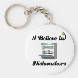 i believe in dishwashers keychain