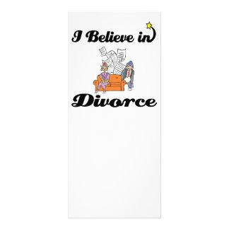 i believe in divorce rack card