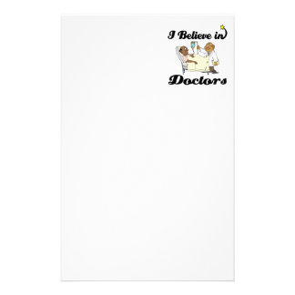 i believe in doctors stationery