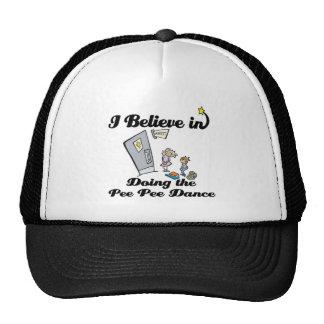 i believe in doing pee pee dance trucker hat