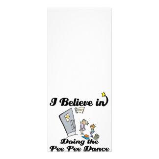 i believe in doing pee pee dance full color rack card
