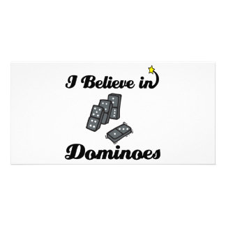i believe in dominoes photo cards