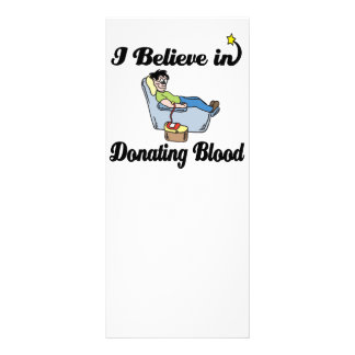i believe in donating blood custom rack cards