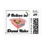 i believe in donut holes postage stamps