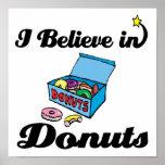 i believe in donuts print