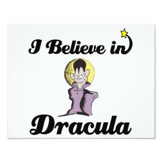 i believe in dracula 4.25x5.5 paper invitation card