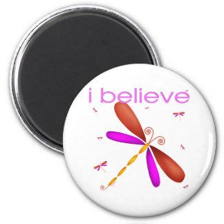 I believe in Dragonflies Refrigerator Magnet