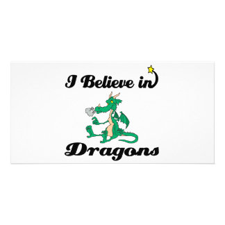 i believe in dragons photo card