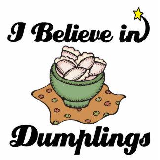 i believe in dumplings standing photo sculpture