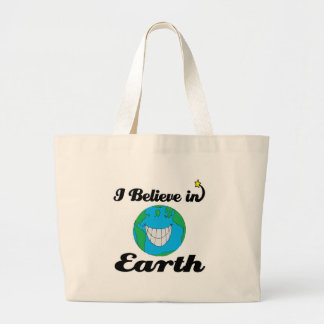 i believe in earth canvas bag