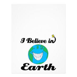 i believe in earth personalized flyer