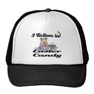 i believe in easter candy trucker hat