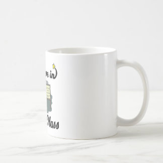 i believe in easter mass classic white coffee mug