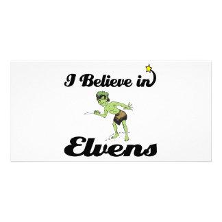 i believe in elvens photo card