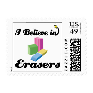 i believe in erasers stamp