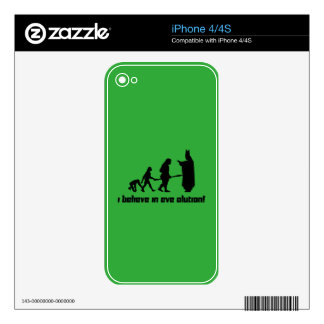 I believe in Eve olution! Skins For iPhone 4S