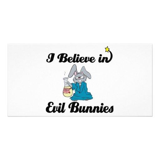i believe in evil bunnies photo card template