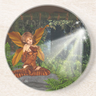 I believe in Faeries Drink Coaster