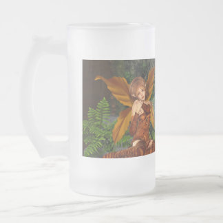 I believe in Faeries Frosted Glass Beer Mug