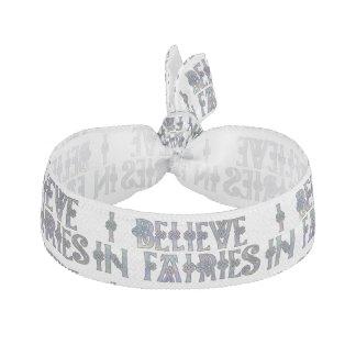 I Believe In Fairies Celtic Knot Design Elastic Hair Tie