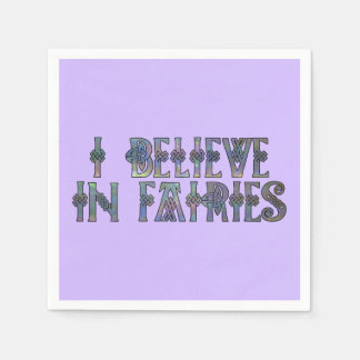 I Believe In Fairies Celtic Knot Design Napkin
