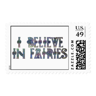 I Believe In Fairies Celtic Knot Design Postage Stamp