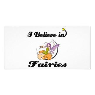 i believe in fairies photo card