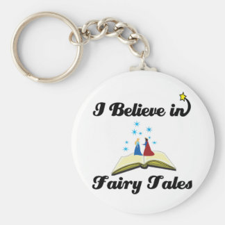 i believe in fairy tales keychain