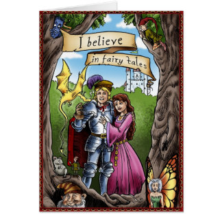 I BELIEVE IN FAIRY TALES Magical Gift Princess Card