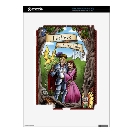 I BELIEVE IN FAIRY TALES Magical Gift Princess iPad 2 Skins