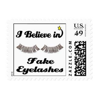 i believe in fake eyelashes postage