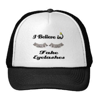 i believe in fake eyelashes trucker hat