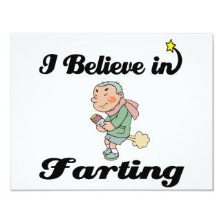 i believe in farting 4.25x5.5 paper invitation card