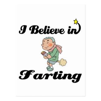 i believe in farting postcard