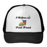 i believe in fast food hat