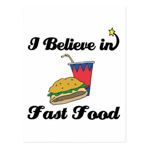 i believe in fast food postcards