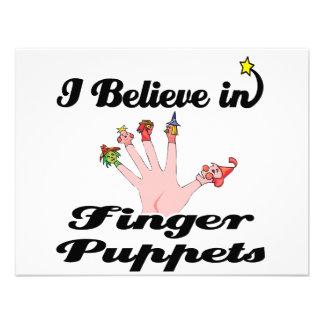 i believe in finger puppets custom invitation