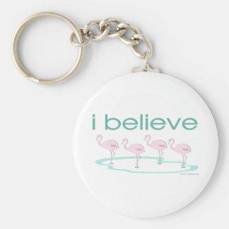 I believe in Flamingos 2 Keychain