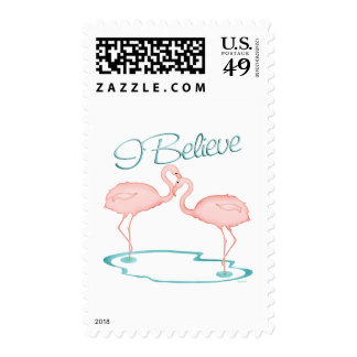 I believe in Flamingos Stamps