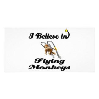 i believe in flying monkeys photo card