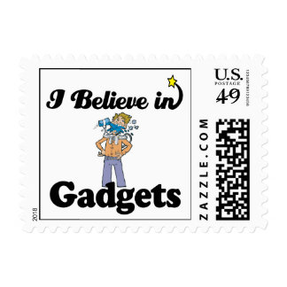 i believe in gadgets stamps
