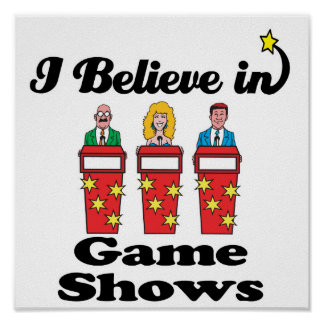 i believe in game shows poster