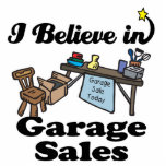 i believe in garage sales photo cut out