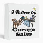 i believe in garage sales vinyl binder