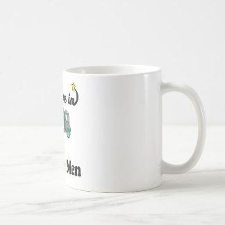 i believe in garbage men coffee mug