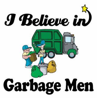 i believe in garbage men standing photo sculpture