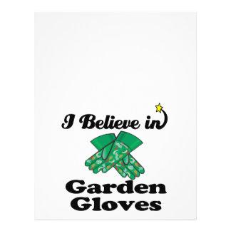 """i believe in garden gloves 8.5"""" x 11"""" flyer"""