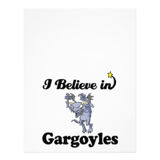"""i believe in gargoyles 8.5"""" x 11"""" flyer"""