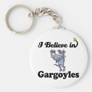 i believe in gargoyles keychain