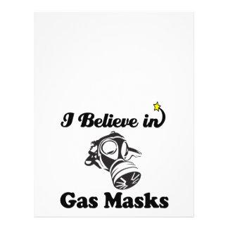 "i believe in gas masks 8.5"" x 11"" flyer"